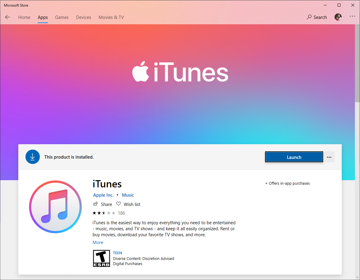 Should I Download Itunes From Microsoft Store