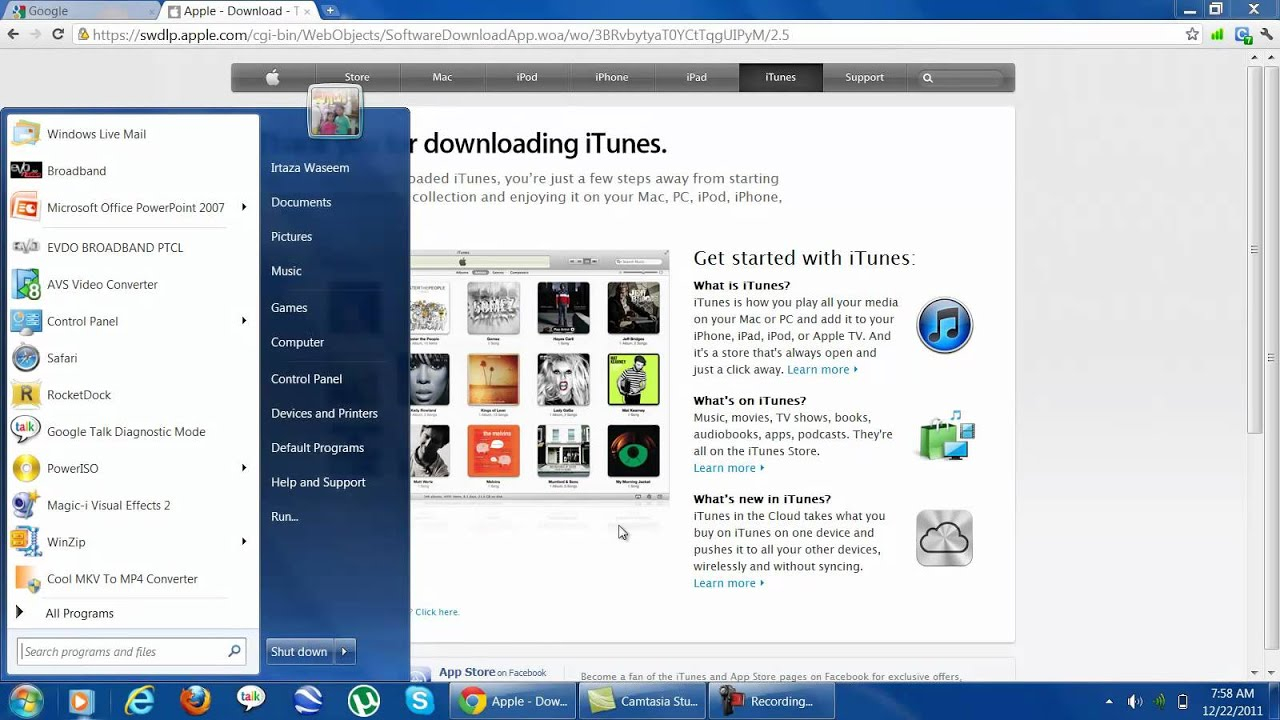 Which Itunes Download For Windows 7