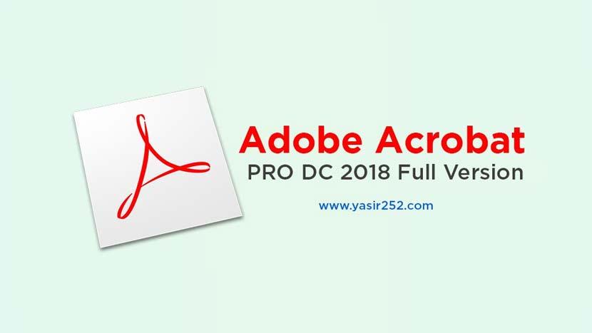 Adobe Acrobat Pro DC Free Download Full Version 2018
