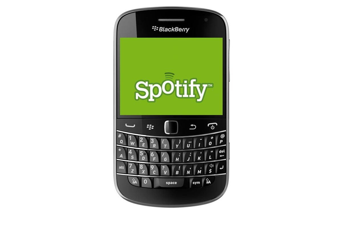 Spotify Releases Native App In BlackBerry App World The