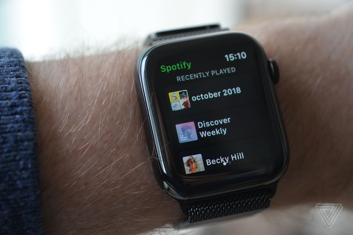 Spotify Launches Its Apple Watch App The Verge